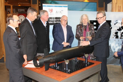 Thales/AMC Sonar Research with Defence Industry Minister Christopher Pyne