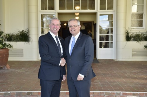 Swearing in of the Morrison Ministry