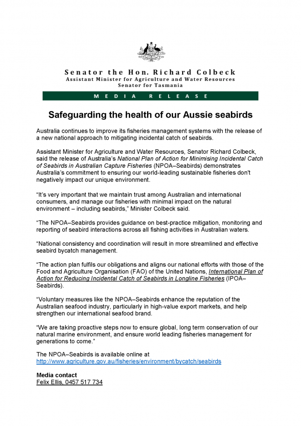 Safeguarding the health of our Aussie seabirds