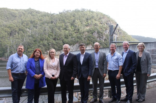 Prime Minister Scott Morrison visited North-West Tasmania to talk pumped hydro and the Battery of the Nation