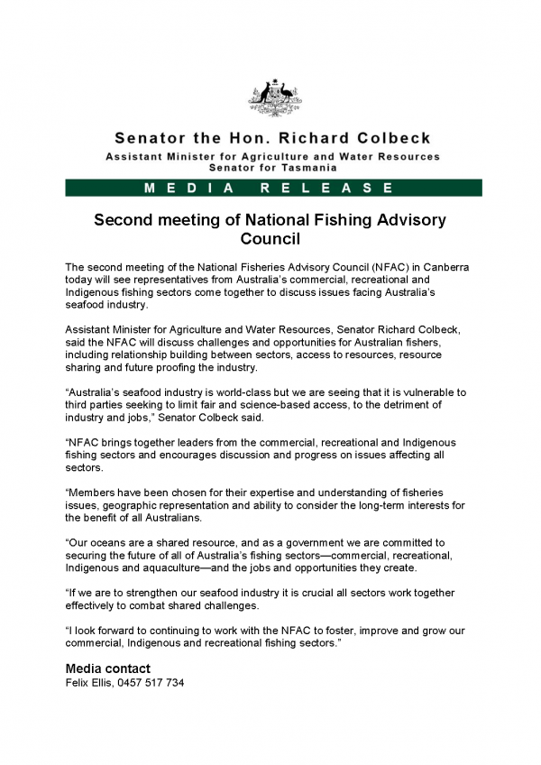 Second meeting of National Fishing Advisory Council