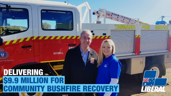 $9.9 MILLION RECOVERY PACKAGE TO SUPPORT COMMUNITIES AFFECTED BY THE TASMANIAN BUSHFIRES