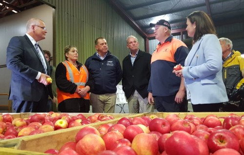 Squibbs Orchards with Prime Minister Morrison