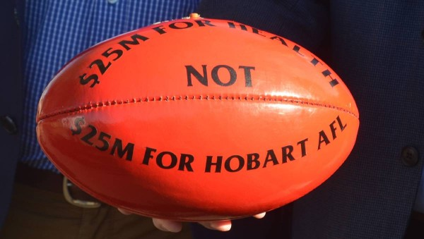 Political football: Federal funding for AFL in Tasmania up against the might of the mainland